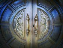 La puerta de madera fotografía de archivo