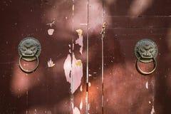 La puerta de madera vieja Imagen de archivo