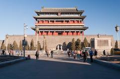 La puerta de Zhengyangmen. Beinjing. China imagen de archivo libre de regalías