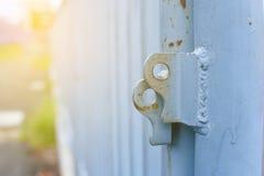La puerta del hierro no es bloqueada Imagen de archivo libre de regalías