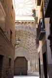 La puerta del juicio pasado, Tudela, España Imágenes de archivo libres de regalías