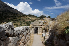 La puerta del norte en Mycenae Fotografía de archivo libre de regalías
