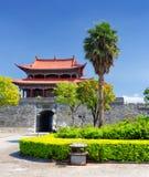 La puerta del oeste a Dali Old Town, provincia de Yunnan, China Foto de archivo libre de regalías
