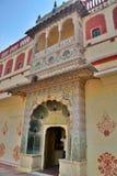 La puerta del pavo real Ciudad Palace jaipur Rajasthán La India Fotografía de archivo libre de regalías