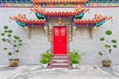 La puerta del templo chino Foto de archivo libre de regalías