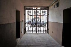 La puerta es cerrada Foto de archivo