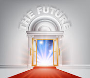 La puerta futura de la alfombra roja Imagenes de archivo