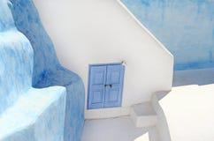 La puerta griega azul Imagen de archivo libre de regalías