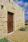 La puerta marrón Fotografía de archivo libre de regalías