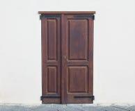 La puerta marrón Foto de archivo libre de regalías