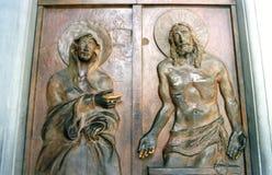 La puerta santa del jubileo en Roma Fotos de archivo