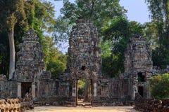 La puerta septentrional en Angkor Wat Fotos de archivo libres de regalías