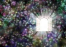 La puerta y la luz Imágenes de archivo libres de regalías