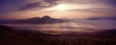 La puesta del sol Fotografía de archivo