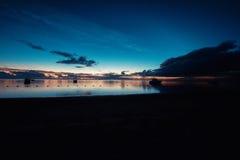 La puesta del sol Imagenes de archivo