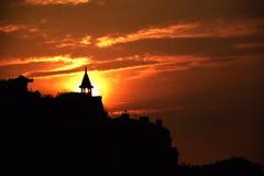 La puesta del sol Imágenes de archivo libres de regalías