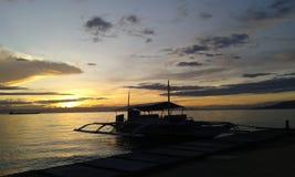 La puesta del sol Fotografía de archivo libre de regalías