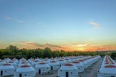 La puesta del sol Fotos de archivo