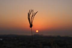 La puesta del sol Foto de archivo