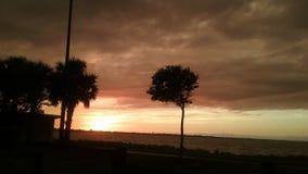 La puesta del sol de jueves Imagen de archivo libre de regalías