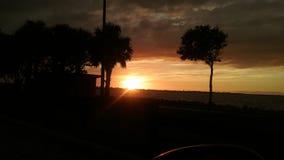 La puesta del sol de jueves Fotos de archivo libres de regalías