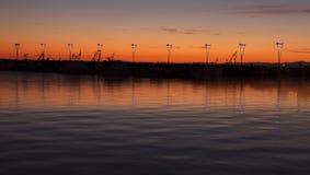 La puesta del sol de Koper fotografía de archivo
