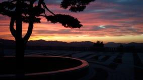 La puesta del sol de la tierra Fotos de archivo