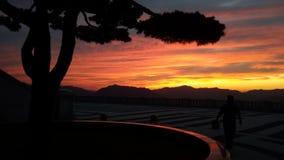 La puesta del sol de la tierra Imagenes de archivo