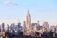 La puesta del sol de New York City scen Fotografía de archivo libre de regalías