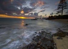 La puesta del sol 3 del amante foto de archivo