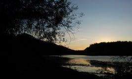 La puesta del sol del otoño Foto de archivo libre de regalías
