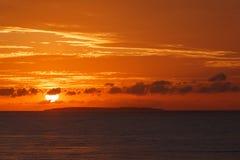 La puesta del sol en la isla de Bohol Imágenes de archivo libres de regalías