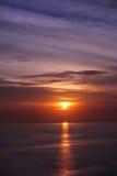 La puesta del sol hermosa Imagen de archivo