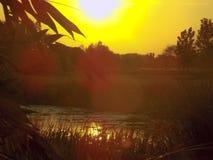 La puesta del sol la India Fotos de archivo libres de regalías