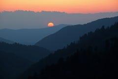 La puesta del sol, Morton pasa por alto foto de archivo libre de regalías