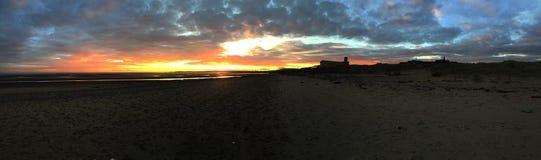 La puesta del sol sueña panorama Fotografía de archivo