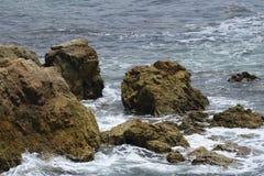 La puissance de l'océan pacifique Photographie stock