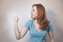 La puissance de la femme d'affaires Photo libre de droits