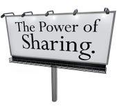 La puissance de partager le message de panneau d'affichage donnent donnent à aide d'autres Photo libre de droits