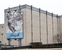 La puissance de la peinture murale de rivière - Janesville, WI Images libres de droits