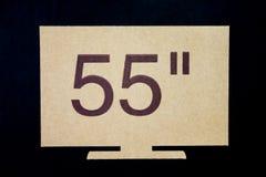 La pulgada LCD TV de los símbolos cincuenta y cinco. Imagenes de archivo