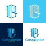 La pulizia assiste l'icona ed il logo - illustrazione di vettore Royalty Illustrazione gratis