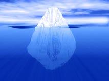 La punta del iceberg stock de ilustración