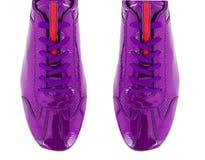 La punta delle scarpe di sport isolate su bianco Fotografie Stock