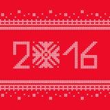 La puntada cruzada Copos de nieve de la Navidad Modelo decorativo Fotografía de archivo