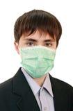 La pupila en una máscara médica Foto de archivo libre de regalías