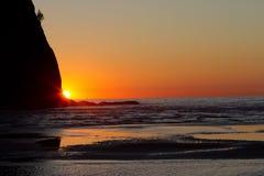 La Push Sunset. Sunset at La Push beach in Washington State Stock Photo