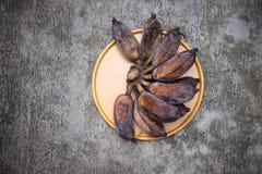 La putrefacción del plátano fotos de archivo