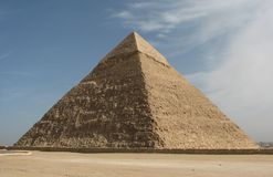 La pyramide de Khafre à Gizeh, Egypte image libre de droits