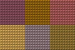 La pyramide sans couture couvre de tuiles le modèle dans des couleurs multiples Image stock